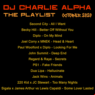 DJ CHARLIE ALPHA - THE PLAYLIST - OCTOBER 2020