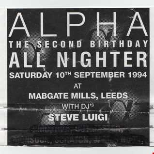 Steve Luigi   Alpha all nighter Mabgate Mills Leeds 10th Sept 1994 (Part 1)