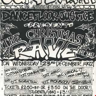 DJ Cutmaster (Aka DJ Ray) Curfew Xmas party - The Plaza Dec 23rd 1992