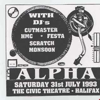 Alpha @ Civic Theatre Halifax 31st July 1993   DJ HMC  Festa & Monsoon Part 2