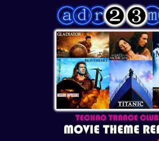 MOVIE THEME REMIX 2 (adr23mix) Techno Trance Club Mix