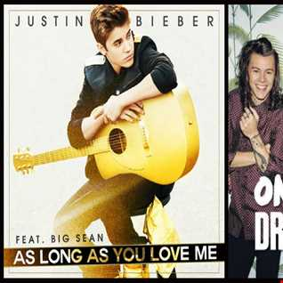 As Long As You Drag Down - Justin Bieber: As Long As You Love Me vs. One Direction: Drag Me Down