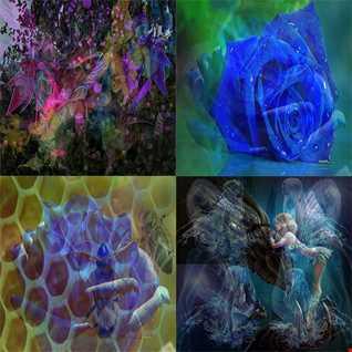 Winter Honey & Blue Roses