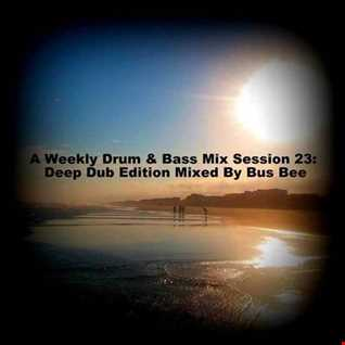 A Weekly Drum & Bass Mix Session 23  Two Hour Deep Dub Edition Mixed By Bus Bee