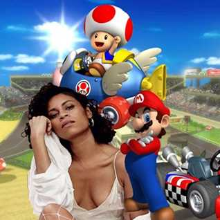 In control of Credits  - Aluna George vs Mario Kart