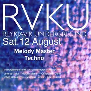 Melody Master Guest set for REYKJAVIK UNDERGROUND august 2017