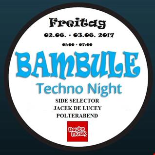 BAMBULE Techno Night Vol. 3 mixed by Gordon T aka Side Selector  2017 06 03