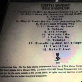 DJ S&S- Presents The Keith Sweat Mixtape CD (Promo 2000)