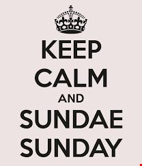 sundae sunday!...