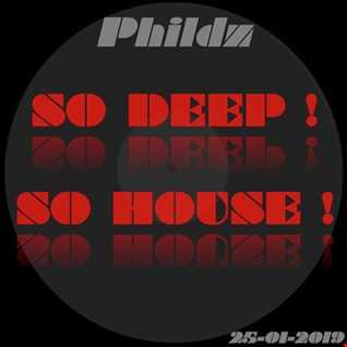Phildz   So Deep ! So House ! (25 01 2019)