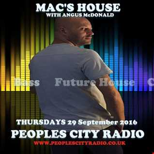 Peoples City Radio - Macs House 29 September 2016
