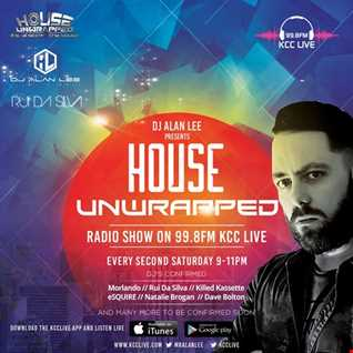 HOUSE UNWRAPPED - DJ ALAN LEE - Feat. KILLED KASSETTE - 99.8fm KCC Live (07.10.17)