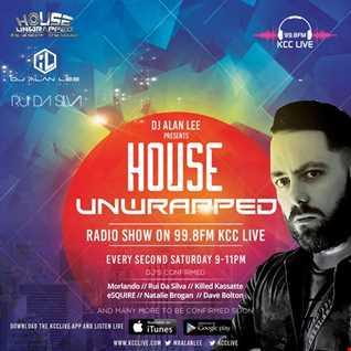 DJ Alan Lee - Presents 'House Unwrapped' Feat. Rui Da Silva - On 99.8fm Kcc Live (04.11.17)