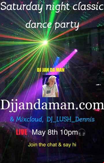 Saturday Night Classic Dance Party 5 8 21 @256