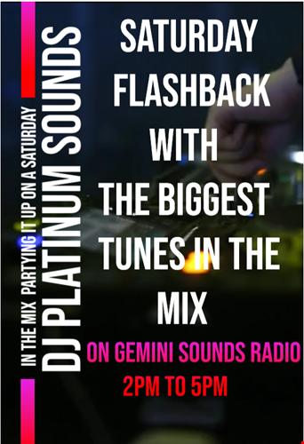 GEMINI SOUNDS RADIO SATURDAY FLASHBACK 10TH OCT 2020