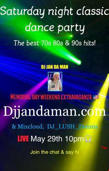 Saturday Night Classic Dance Party 5/29/21