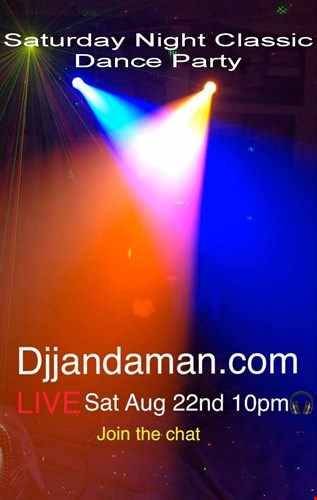 Saturday Night Classic Dance Party 8 22 20