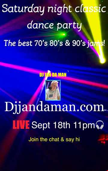 Special Saturday Night Classic Dance Party 9 19 21