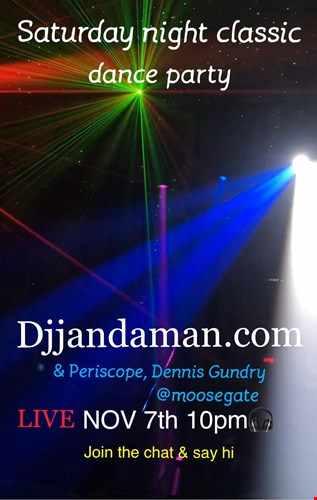 Saturday night Classic Dance Party 11/7/20