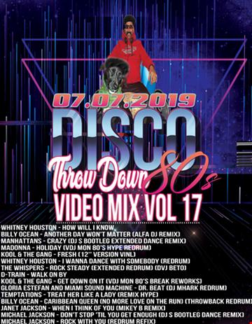 THROWDOWN RETRO 80'S VIDEO MIX VOL 17