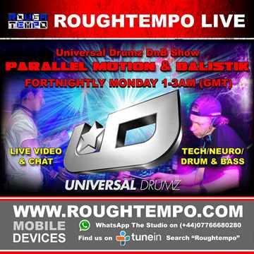 Parallel Motion  - Universal Drumz DnB Show Live on Rough Tempo 7 9 14 Part 1